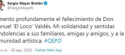 Sergio Mayer comunicó el Fallecimiento de Xavier Ortiz, ex integrante de la alineación original del grupo Garibaldi (Foto: Twitter)