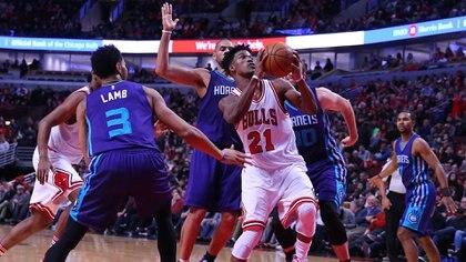 Butler con la camiseta de los Chicago Bulls, la primera que usó en la NBA (Reuters)