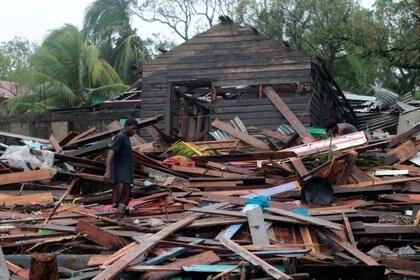 Una casa destruida tras el paso del huracán (REUTERS/Oswaldo Rivas)