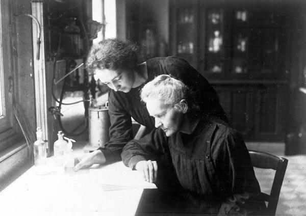 Marie con su hija Irene.