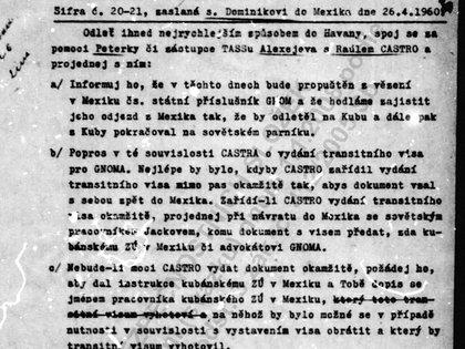 Parte de uno de los informes de la Operación Gnomo
