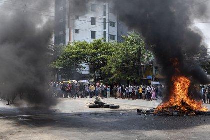 Protestas en Rangún contra la junta militar POLITICA INTERNACIONAL BIRMANIA (MYANMAR) THUYA ZAW / ZUMA PRESS / CONTACTOPHOTO