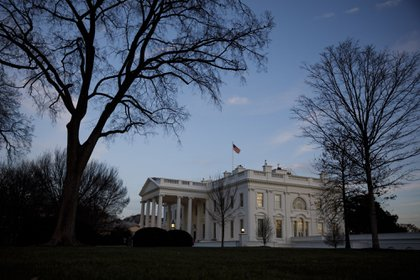 The White House in Washington, D.C., U.S., on Thursday, Jan. 7, 2021. Joe Biden was formally recognized by Congress as the next U.S. president early Thursday, ending two months of failed challenges by his predecessor, Donald Trump, that exploded into violence at the U.S. Capitol as lawmakers met to ratify the election result.