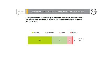 La percepción de los encuestados por CECAITRA fue que durante las fiestas, la mayoría se excede con la ingesta de alcohol