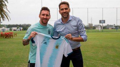 Lionel Messi y Santigo Carreras