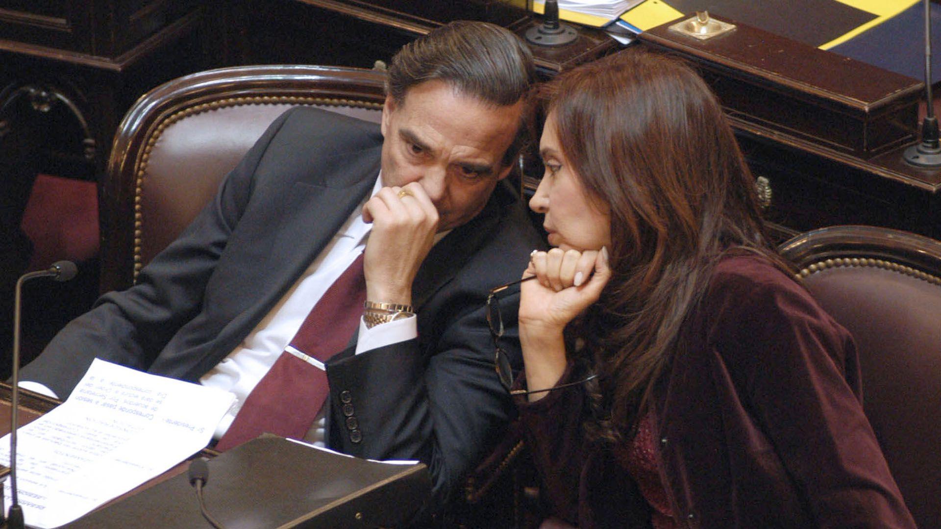 Miguel Ángel Pichetto y Cristina Kirchner (NA)
