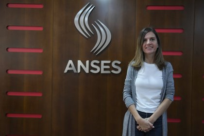 La titular de la Anses, Fernanda Raverta