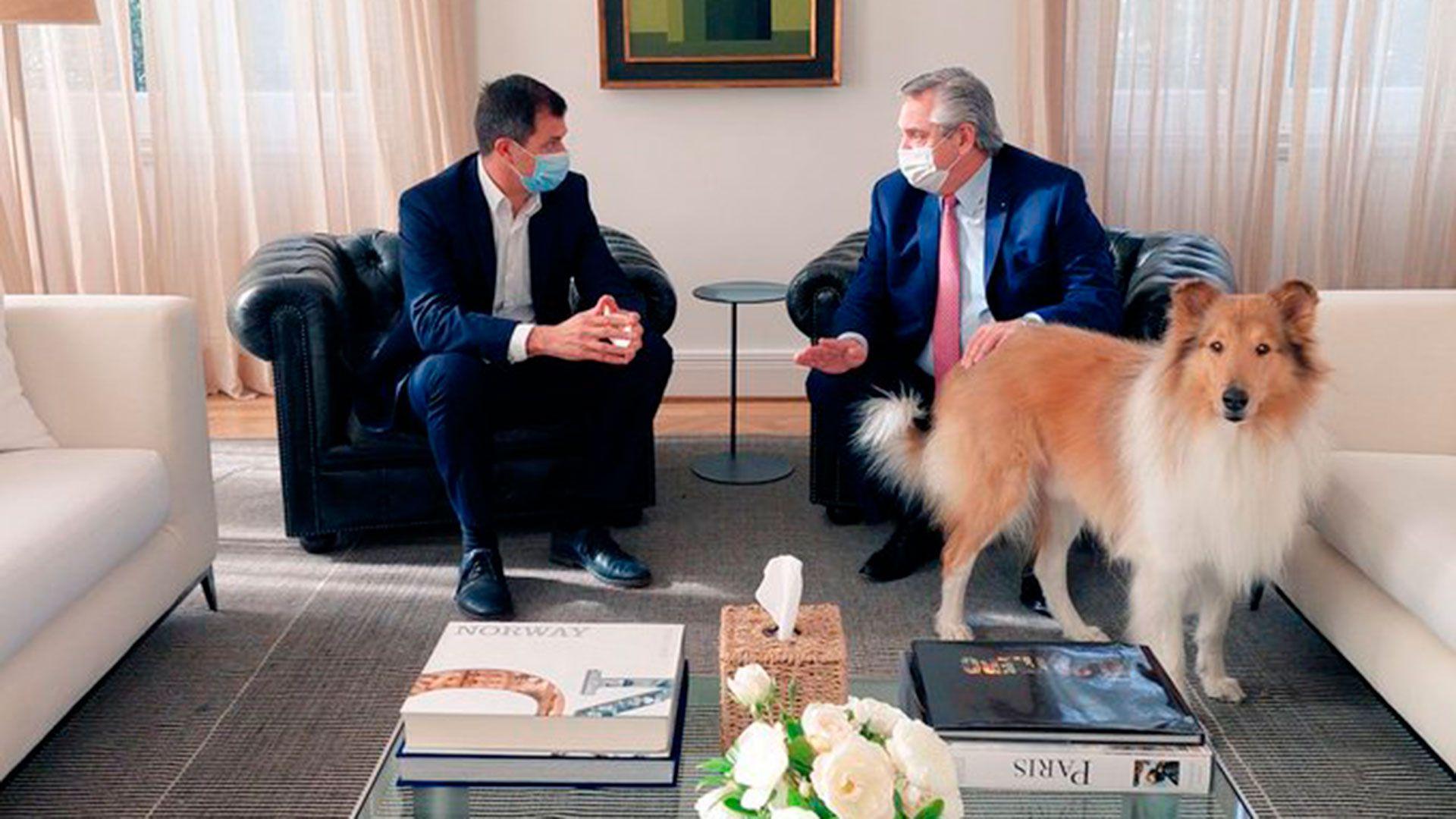 el presidente Alberto Fernández y Eduardo Bali Bucca