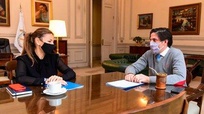 El ministro de Educación nacional, Nicolás Trotta, y su par porteña, Soledad Acuña