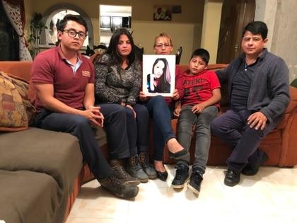 La familia de Vanessa. (Foto: Diana Zavala/Infobae México)