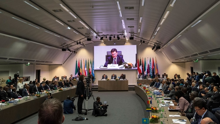 Reunión de la OPEP en Viena, en diciembre de 2018