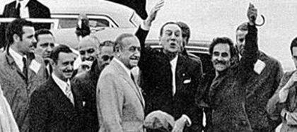 A Perón le dio el cuero y el 17 de noviembre de 1972, en un avión de Alitalia, tocó pista en Ezeiza con más de 150 personalidades que acompañaban a Perón e Isabel