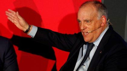 """El presidente de La Liga de España, duro contra Florentino Pérez y Joan Laporta por la Superliga: """"Repiten tantas tonterías que la gente las termina creyendo"""""""