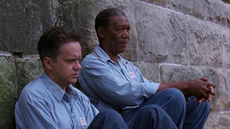 "In ""The Shawshank Redemption"" with Morgan Freeman"