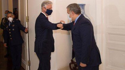 Iván Duque junto al asesor de seguridad nacional de EEUU, Robert O´Brien (Twitter: @IvanDuque)