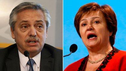 Alberto Fernández dialogó ayer por teléfono con Kristalina Georgieva del FMI
