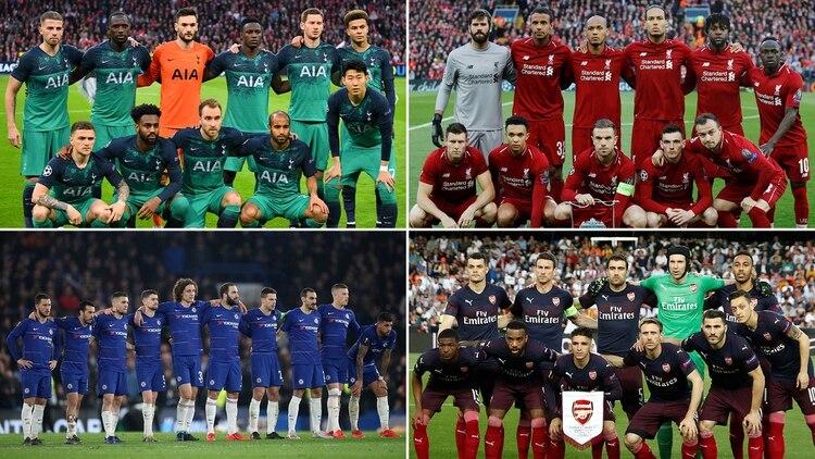 5df738116e Tottenham, Liverpool, Chelsea y Arsenal son los ingleses que jugarán las  finales europeas