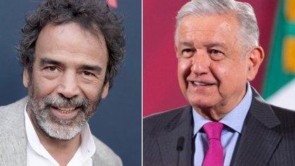 """Damián Alcázar sorprendió al revelar que ya alista película sobre la 4T de López Obrador, que podría llamarse """"Primero los pobres"""" (Foto: AP y Presidencia)"""