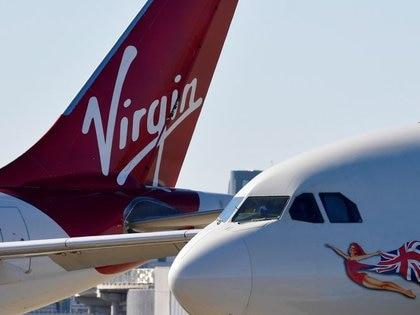 Imagen de archivo de aviones de Virgin Atlantic en el aeropuerto de Heathrow, Londres, Reino Unido. 5 mayo 2020. REUTERS/Toby Melville
