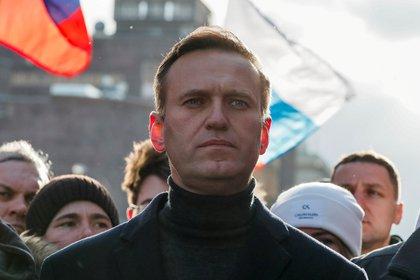 Alexei Navalny en una manifestación en Moscú el 29 de febrero de 2020 (REUTERS/Shamil Zhumatov/File Photo)
