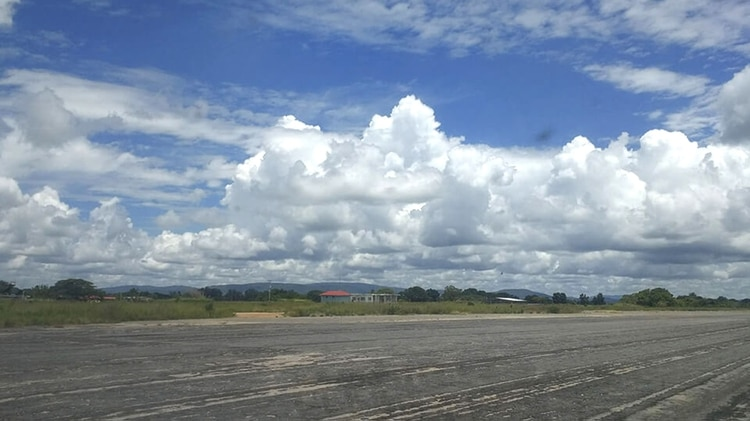 El aeropuerto de Guasipati (Crédito: runrun.es)