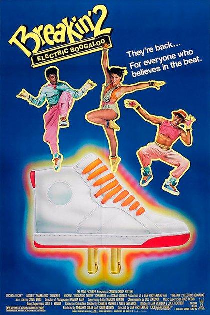 """El afiche promocional de """"Breakin' 2: Electric Boogaloo"""""""