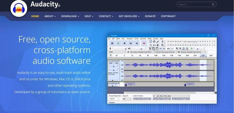 Audacity permite editar audio con facilidad.