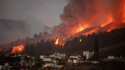 Erupcion de volcan en La Palma