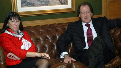Junto a Felisa Miceli, coordinadora de la mesa de Costos de Insumos Difundidos y ex ministra de Economía y Producción