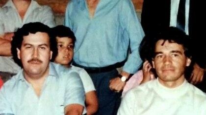 Carlos Lehder junto a Pablo Escobar.