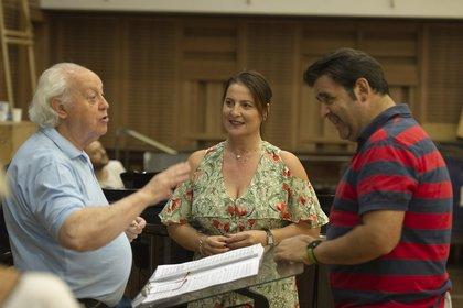 Mario Perusso, María Pía Piscitelli y Fabián Veloz