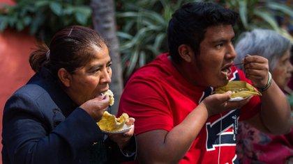 Los tamales son un alimento muy solicitado en está época del año, en que se celebra el día de la Candelaria (Foto: Isaac Esquivel/ Cuartoscuro)