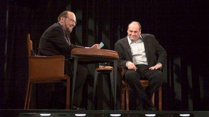 James Lipton y James Gandolfini