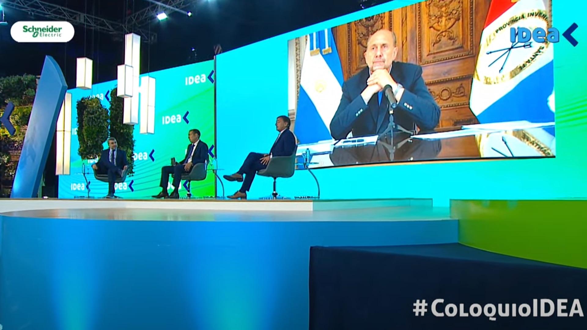 Gobernadores Suarez Gutierrez Perotti en el Coloquio IDEA