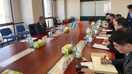 Luis Maria Kreckler con el Presidente de Sinopharm