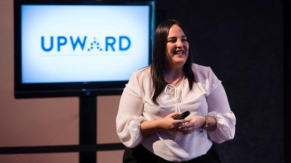 Agostina Verni, ejecutiva de recursos humanos, brindó una charla que logró la atención del auditorio (Adrián Escandar)