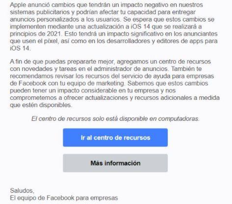 Anuncio facebook