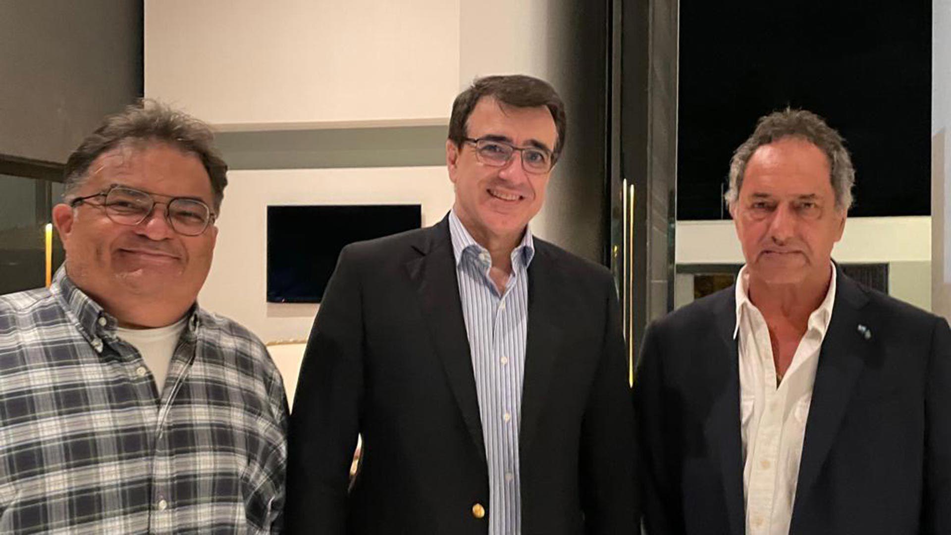 Flavio Viana Rocha, Daniel SCIOLI y Carlos França