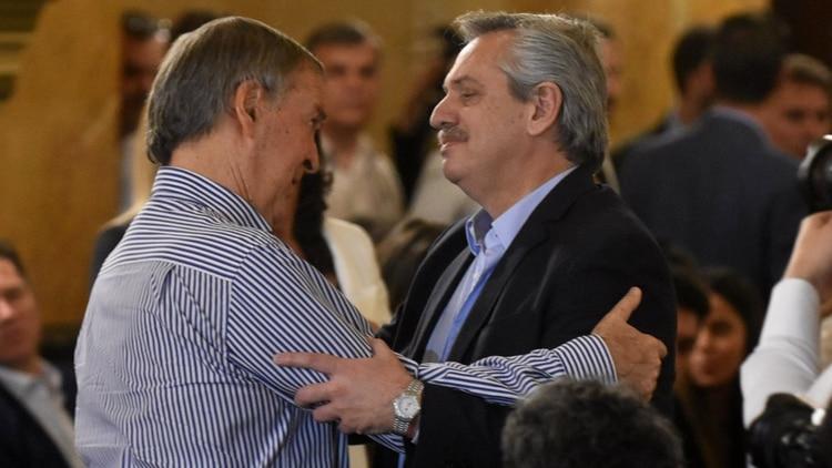 Alberto Fernández y el gobernador de Córdoba Juan Schiaretti