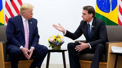 Donald Trump y Jair Bolsonaro durante la reunión en el marco del G20 en Osaka. (Reuters)