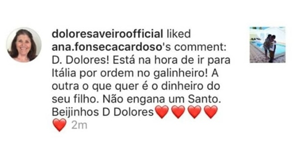 El mensaje que la mamá de Ronaldo le puso like en Instagram