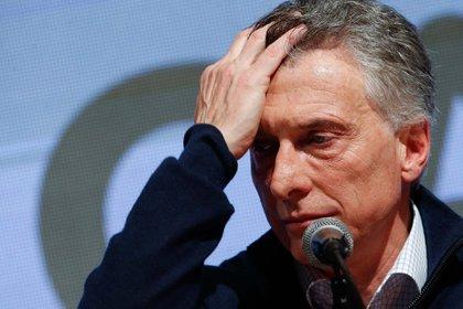 La peor cara de Mauricio Macri (EFE/Juan Ignacio Roncoroni)