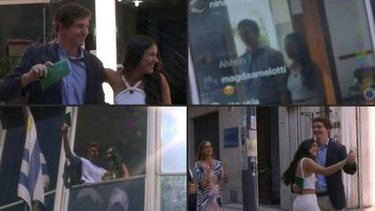 Frente a la oficina del Registro Civil en Montevideo, una docena de personas paradas en la vereda mira por celular una transmisión en vivo de Instagram. De pronto gritan al unísono: adentro, los novios dieron el sí.