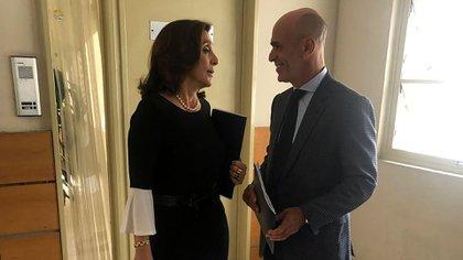 Gustavo Arribas y Silvia Majdalani, antes de ir a declarar en 2019 a la comisión de seguimiento por caso D'Alessio