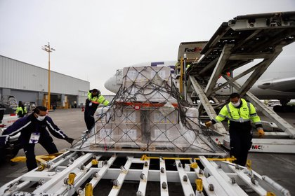 Este sábado 25 de julio llegaron 32 ventiladores procedentes de EEUU (Foto: Cortesía SRE)