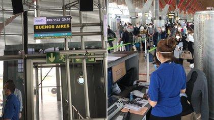 Mañana llegará a Ezeiza el vuelo de Aerolíneas Argentinas con 250 pasajeros desde Madrid