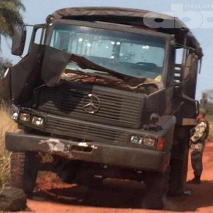 La camioneta que hicieron explotar miembros del EPP el sábado