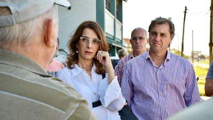 María Eugenia Bielsa junto a su compañero de fórmula Danilo Capitani