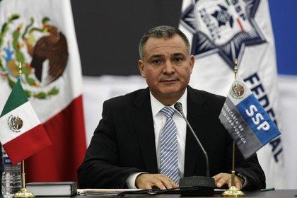 Imagen de archivo. Exsecretario de seguridad mexicano Genaro García Luna en una conferencia de prensa. 7 de septiembre de 2011. Ciudad de México. REUTERS/Bernardo Montoya
