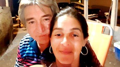 Veronica Picapietra junto a su esposo, Alejandro Nahuelquin